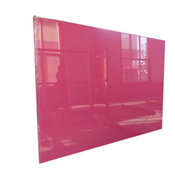Pink Lacquered Glass