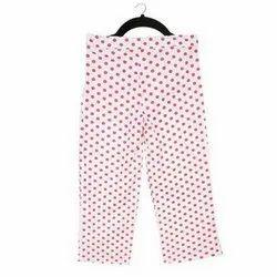 White Cotton Kids Girls Polka Dot Print Pant