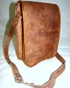 Full Flap Vintage Leather Messenger Bag