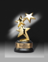 Star Brass Metal Trophy