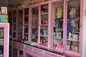 Pharmacy cabinet with sliding glass