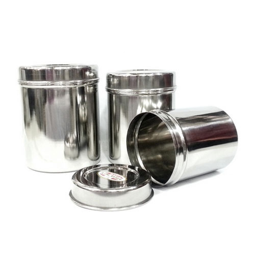 0dbcb8c6e4 Stainless Steel Canister Set, For Home, Rs 800 /set, Darshan Steel ...