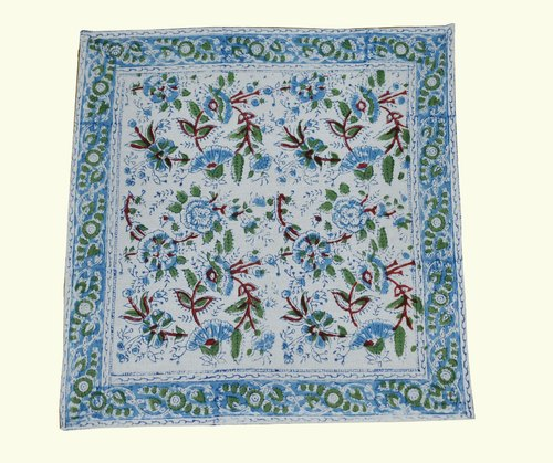 Printed Cotton Napkin, Size: 18x18 Inch