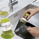 Plastic Cleaning Brush With Liquid Soap Dispenser(658)