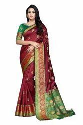 Pure Tussar Silk Printed Saree