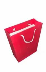 Red Plain Paper Carry Bag, For Packaging, Capacity: 2 Kg