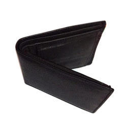TM Exports Mens Black Leather Wallet