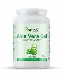 Natural Kazima Aloe Vera Gel (Transparent) For Skin & Hair, For Personal, Type Of Packaging: Pet Bottles