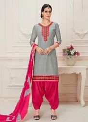 Glace Cotton Daily Wear Patiala Suits
