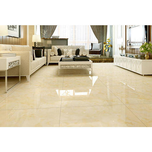 Living Room Flooring India: Drawing Room Glossy Ceramic Floor Tile At Rs 400 /box