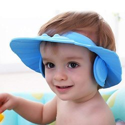 Tallin Baby Shower Cap New Soft Bathing Baby Wash Hair Eye Ear Protector Hat