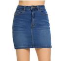 Uniform Jeans Skirt