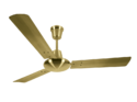 Luminous Three Blade Enchante Electroplated Ceiling Fan, Color: Antique Brass