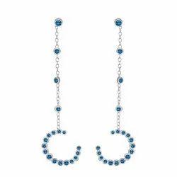 Blue Topaz Silver Earring