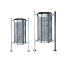 SS Pole Perforated Bin