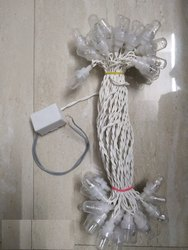 Decorative Toran Single Color White Fancy Light for Festivals - Made in India