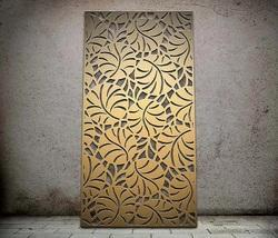 Lily Pond Botanical Laser Cut Metal Screens and Sheet Boards