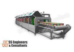 Food Containers Cooling Tunnel