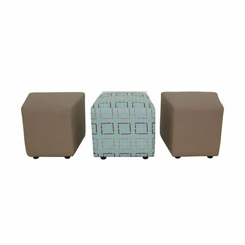Brown Fonzel Citrine Square Ottoman, Seating Capacity: 1