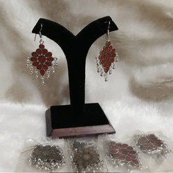 Oxidised German Short Earrings
