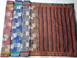 Ladies Peacock Printed Kota Silk Saree