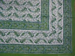 Hand Block Printed Cotton Fabric Jaipuri Bed Sheet