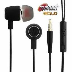 Mobile Tuscan Black Wired Earphone
