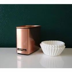Coffee Container Copper Jar, Packaging Type: Box