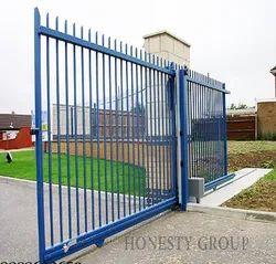 Mild Steel Blue Slide Door, Exterior