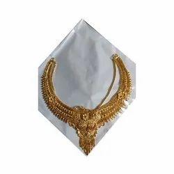 Golden Ladies Brass Antique Necklace, Box