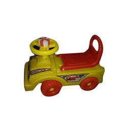Red and Yellow Plastic Riding Baby Car