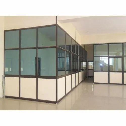 Aluminium Glass Hinged Jindal Aluminium Partition For Commercial