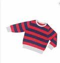 Red Black Round Neck Kids Sweater