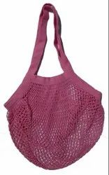 100% Cotton Colored Mesh Shopping Tote Bag