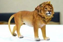 Multicolor Resin Star Gardens Lion Idol, Packaging Type: Foam Packing