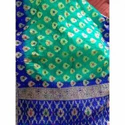 Multicolor Party wear Cotton Printed Gadwal Saree, Packaging Type: Packet