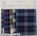 Cotton Indigo Blue Yarn Dyed Check Fabric