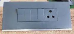 10 A Black Schneider Unica Modular One Way Switch, ON/OFF, 250 V