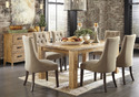 Fabric Chair Wooden Dining Table