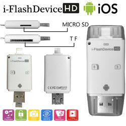 Usb card reader suppliers manufacturers in india i flash drive hd usb micro sd memory card reader device reheart Images