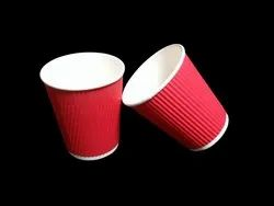 250 ML Red Paper Glass