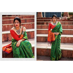 Women Oracle Silk Ladies Party Wear Printed Saree, With blouse piece, 5.5 m (separate blouse piece)