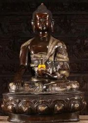 Buddha Brass Metal With Carving