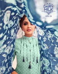 Textile Mall Presents Angroop Plus Dairy Milk Vol-29 Embroidery Work Dress Material Catalog