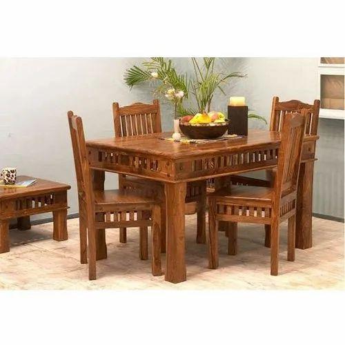 Brown Designer Wooden Dining Table Set Rs 42000 Set New Kiran Furniture Id 20582860155
