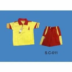 Half Sleeves Cotton Boys School Uniform, Packaging Type: Packet