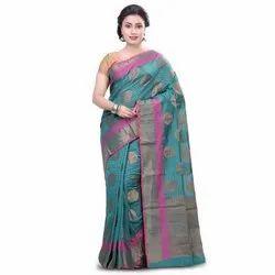 Ladies Banarasi Party Wear Saree, 6.3 m , With Blouse