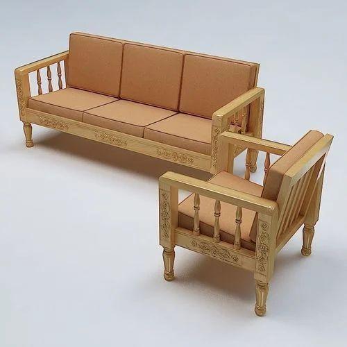 plain modern wooden sofa set