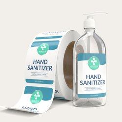 Generic Multicolor Sanitizer Stickers and Self Gum Labels, Packaging Type: Packet