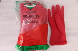 Red, Ivory Top Mini Hand Gloves